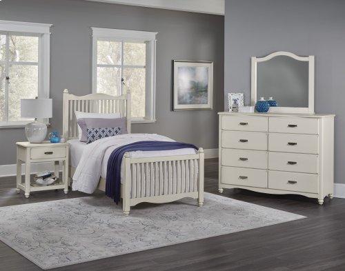 VAUGHAN BASSETT 404M 4-Piece American Maple Twin Bed, Dresser, Mirror & Night Table