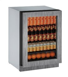 """Modular 3000 Series 24"""" Glass Door Refrigerator With Integrated Frame Finish and Field Reversible Door Swing (115 Volts / 60 Hz)"""