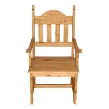 Wood Seat Plain Arm Chair