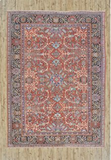 "MAHAL 000031513 IN RUST NAVY 8'-9"" x 12'-1"""