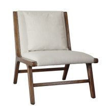 Wood Frame Lounge Chair, Linen