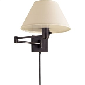 Visual Comfort 92000DBZ-L Studio Classic 25 inch 75 watt Bronze Swing-Arm Wall Light in Linen
