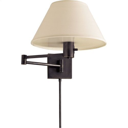 Visual Comfort 92000DBZ-L Studio Classic 25 inch 75 watt Bronze Swing-Arm Wall Light in Linen