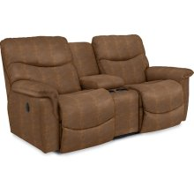 James La-Z-Time® Full Reclining Loveseat WITH CONSOLE