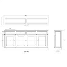 Hudson 4 Door Sideboard