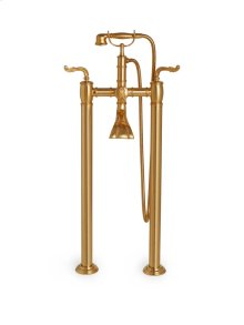 Antique Gold Ribbon & Reed Exposed Tub and Shower System