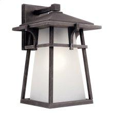 "Beckett 14.5"" 1 Light Wall Light with LED Bulb Weathered Zinc"