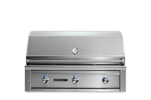 """42"""" Sedona by Lynx Built In Grill with 2 Stainless Steel Burners and ProSear Burner, NG"""