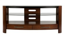 Vibrant Espresso Finish Curved Wood Audio/Video System