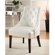 Casual White Accent Lounge Chair