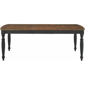 Extension Leg Table in Espresso & Aged Ebony