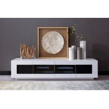 Modrest Frost Modern Small White TV Unit