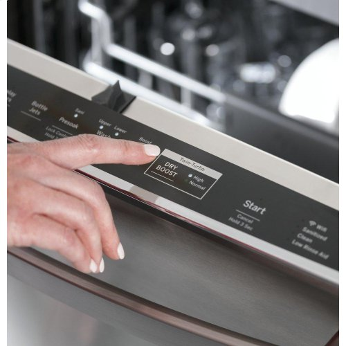 GE Profile™ Stainless Steel Interior Smart Dishwasher with Hidden Controls