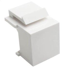 Snap-In Blank Keystone Jack Insert, White, 10 Pack, TAA