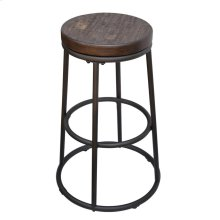 Industrial Rustic Ash 24-inch Bar Stool
