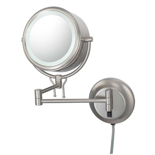 Brushed Nickel Double Sided Mirror