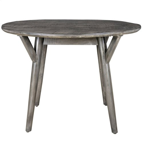 Mira Round Dining Table in Distressed Grey