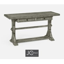 Antique Dark Grey Serving Table