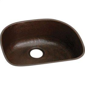 """Elkay Copper 23-9/16"""" x 21-1/8"""" x 10"""", Single Bowl Undermount Sink"""