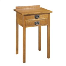 Oak Two Drawer Tall Night Stand