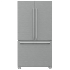 "Blomberg Appliances36"" French Door Refrigerator 22.3 cu ft, stainless doors, stainless handles"