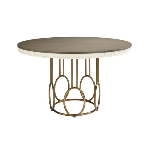 Oasis-Venice Beach Round Dining Table in Saltbox White