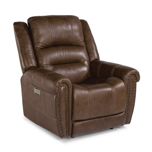 Oscar Leather Power Recliner with Power Headrest