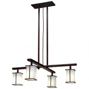 Cross Arm Chandelier- Square Glass - C455 Silicon Bronze Brushed Product Image