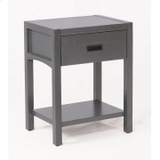 Reisa Solid Wood Night Stand - Flat Grey Product Image