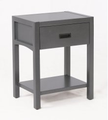 Reisa Solid Wood Night Stand - Flat Grey