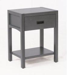 Reisa Solid Wood Night Stand - Flat Grey