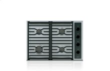 "30"" Transitional Gas Cooktop - 4 Burners"