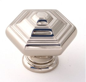 Geometric Knob A1530 - Polished Nickel