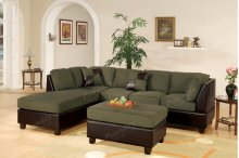 A4) Sectional W/ Ottoman