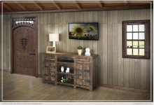 "60"" TV Stand w/2 Doors, 2 Drawer & 3 shelves"