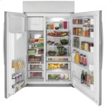 """Ge Profile(tm) Series 48"""" Smart Built-In Side-By-Side Refrigerator With Dispenser"""