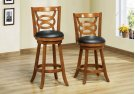 "BARSTOOL - 2PCS / 39""H / SWIVEL / OAK COUNTER HEIGHT Product Image"