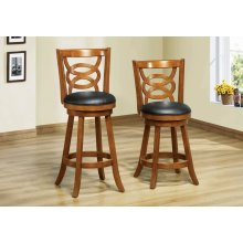 "BARSTOOL - 2PCS / 39""H / SWIVEL / OAK COUNTER HEIGHT"
