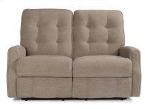 Devon Leather Power Reclining Loveseat with Power Headrests and without Nailhead Trim