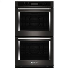 """30"""" Double Wall Oven with Even-Heat True Convection - Black Stainless Steel with PrintShield™ Finish"""