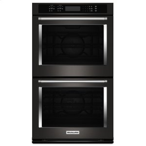 "Kitchenaid Black30"" Double Wall Oven with Even-Heat True Convection - Black Stainless Steel with PrintShield™ Finish"