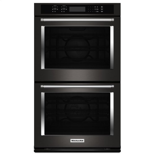 "30"" Double Wall Oven with Even-Heat True Convection - Black Stainless Steel with PrintShield™ Finish"