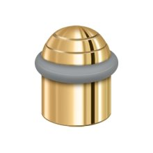 """Round Universal Floor Bumper Dome Cap 1-1/2"""", Solid Brass - PVD Polished Brass"""