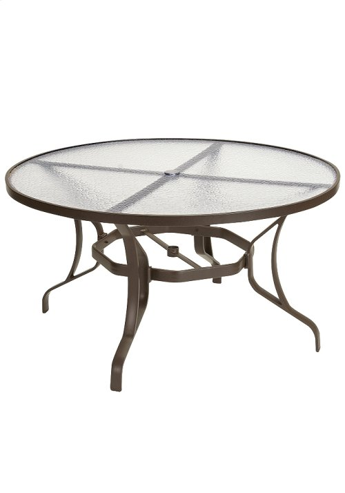 """Obscure Glass 54"""" Round KD Dining Umbrella Table"""