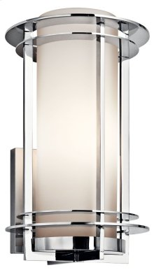 """Pacific Edge 16"""" 1 Light Wall Light Polished Stainless Steel"""
