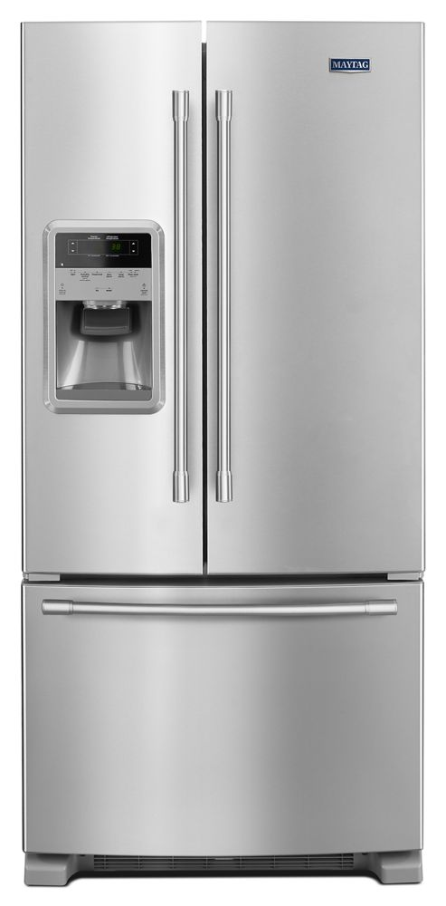 MAYTAG 33  Inch Wide French Door Refrigerator With Beverage Chiller  Compartment   22 Cu. Ft.