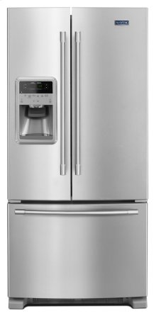 *SCRATCH AND DENT* 33- Inch Wide French Door Refrigerator with Beverage Chiller Compartment - 22 Cu. Ft.