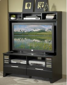 Black Plasma TV Stand Top