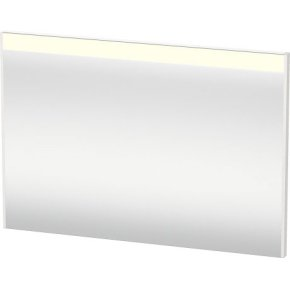 Mirror With Lighting, White High Gloss (decor)