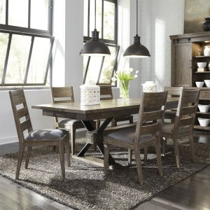Liberty Furniture Industries 7 Piece Trestle Table Set